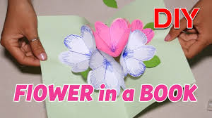 Flowers In A Book - how to make diy flower in a book spiral flower tutorial youtube