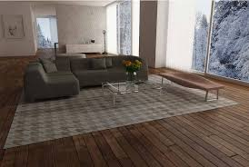 Wood Area Rug Houndstooth White And Beige Leather Area Rug Shine Rugs