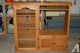 glass cabinet doors for entertainment center solid oak entertainment center w side cabinet glass door for sale