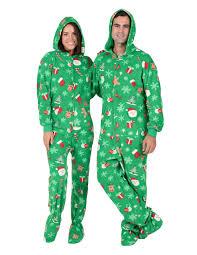 tis the season hoodie drop seat hooded drop seat pajamas