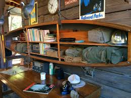 Canoe Bookcase Furniture An Adventurous Looking Listening Post At Disneyland