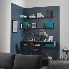 coin bureau dans salon une délimitation colorée au mur pour un max d effet dans ce salon