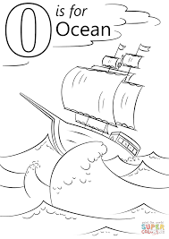 letter o is for ocean coloring page free printable coloring pages