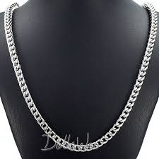 blue stainless steel necklace images 5 6mm mens chain boys franco foxtail box link blue silver tone jpg