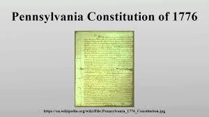 Pennsylvania travel wiki images Pennsylvania constitution of 1776 jpg