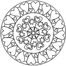 Coloriage Mandala coeur en Ligne Gratuit à imprimer