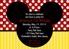 mickey mouse birthday minnie mouse photo birthday invitations sle of birthday card
