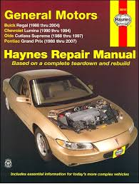 old car repair manuals 1989 buick regal spare parts catalogs regal cutlass supreme grand prix lumina repair manual 1988 2007