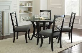marble glass dining room table in dark tone