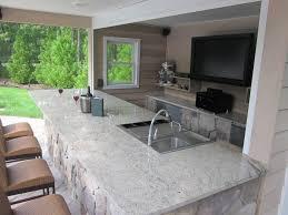 Home Outdoor Kitchen Design Kitchen Design Magnificent Bar Granite Foot Rest Outdoor Kitchen