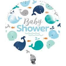 whale baby shower whale baby shower foil balloon 1 ct