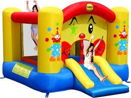 happy hop clown bouncy castle and slide amazon co uk toys u0026 games