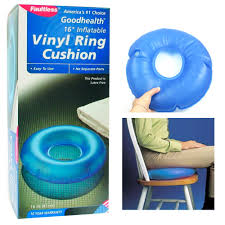inflatable vinyl ring round cushion hemorrhoid pillow medical