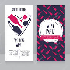 Invitation Business Cards Invitation For Wine Party Can Be Used As Template For Wine Shop