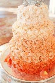 peach ombre wedding cake vintage fall wedding swirl cake ombre and glamour