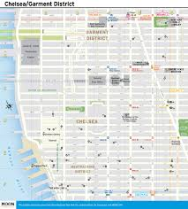 New York City Attractions Map by New York City Map Chelsea U0026 Garment District Moon Com