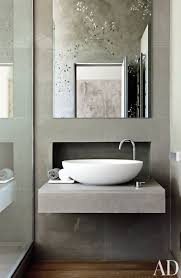 small space of grey bathroom ideas decorated with simple floating