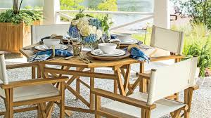 how to set an outdoor table southern living youtube
