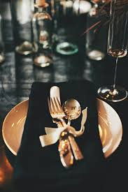 black and gold wedding table decorations photograph weddin