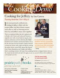 cookingdemo cooking for jeffery by ina garten sold out u2014 prairie