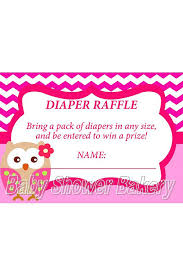 baby shower raffle owl raffle ticket instant owl baby shower