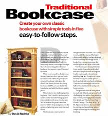 Furniture Plans Bookcase by Traditional Bookcase Plans U2022 Woodarchivist