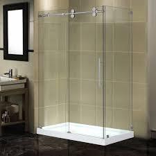 48 Inch Glass Shower Door Stylish Frameless Sliding Shower Doors Within Vigo 25 48 Inch Door