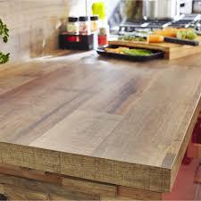 plan travail cuisine bois plan de travail stratifié effet bois cabane mat l 315 x p 65 cm ep