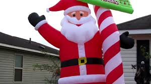 Home Depot Inflatable Outdoor Christmas Decorations Holidayana 13 Ft Tall Candy Cane Santa Claus Inflatable Christmas