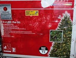 home accents 7 5 pre lit led nevada tree