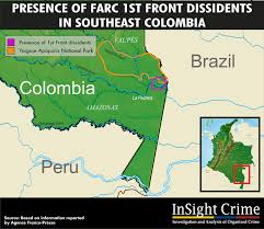 La Crime Map Tempted By Gold Farc Dissidents Reject Peace Process