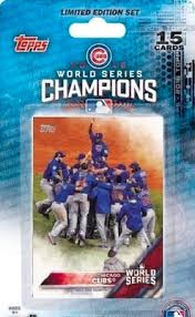 2016 topps chicago cubs world series champions set checklist boxes
