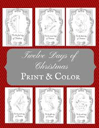 the prudent pantry twelve days of christmas coloring pages