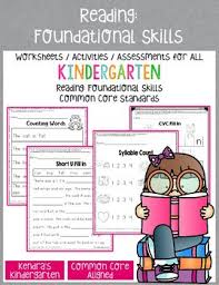 reading foundational skills worksheets activities for