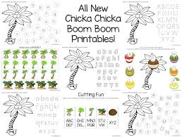ideas of chicka chicka boom boom worksheets with letter template