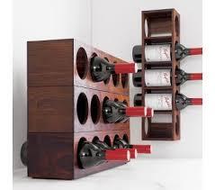 stainless steel wall mount wine rack holder