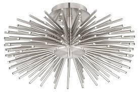 Nickel Ceiling Light Lighting Fixtures Fascinating Remarkable Outstanding Modern
