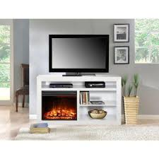 White Fireplace Entertainment Center by Muskoka Claire 54 In Media Console Electric Fireplace In White