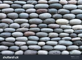 peddle stone wall texture background stock photo 117623650