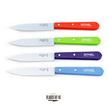 opinel kitchen knives opinel paring knife mixed pastel colours no 112 set of 4 knives