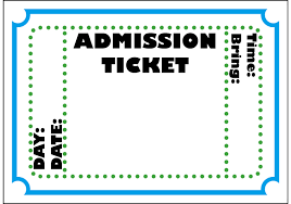 entry ticket template