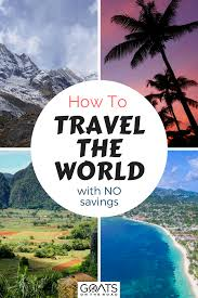 travel the world images How to travel the world when you have absolutely no money goats png