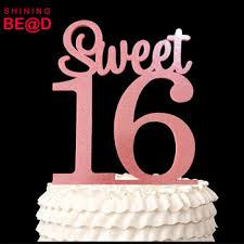 acrylic cake toppers happy 16th birthday acrylic cake topper sweet 16 glitter pink