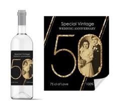 anniversary wine bottles personalise wine bottle labels planet cards uk