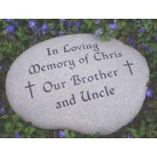 personalized memorial stones river rock garden personalized memorial