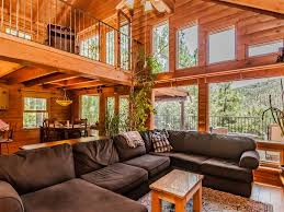 Contemporary Cabin Contemporary Log Cabin Nestled In Towering Vrbo