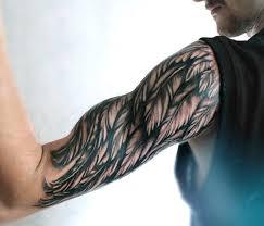 half sleeve angel wing tattoos on mens arm tattoos pinterest
