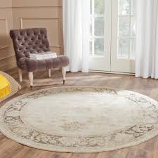 Brown Round Rugs by Safavieh Vintage Stone 8 Ft X 8 Ft Round Area Rug Vtg117 440 8r