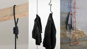 hanging coatrack doesn u0027t waste an inch of floor space