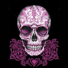 shirt custom design sugar skull pink roses day of the dead